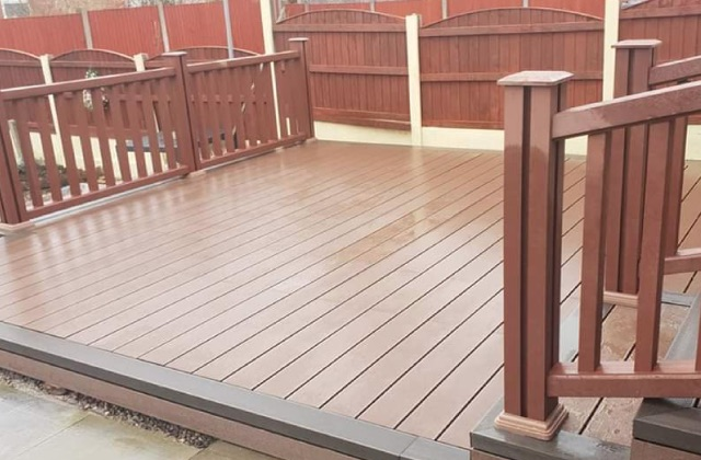 Decking in Royton, Oldham, Shaw